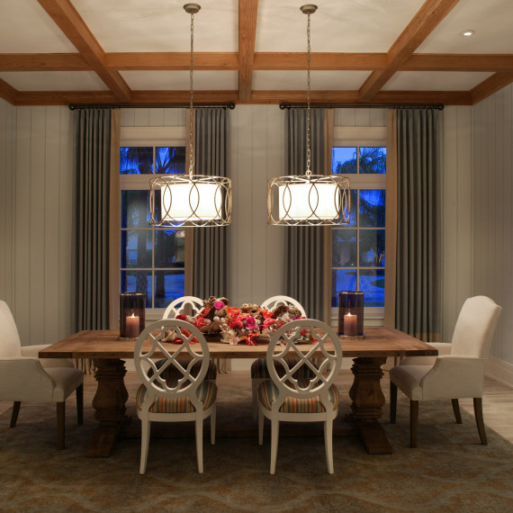 Coastal Transitional Dining Room
