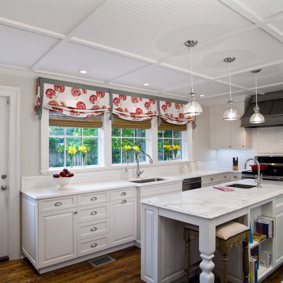 Cottage Transitional American White Kitchen
