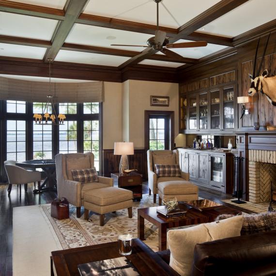 Contemporary Living Room/Den
