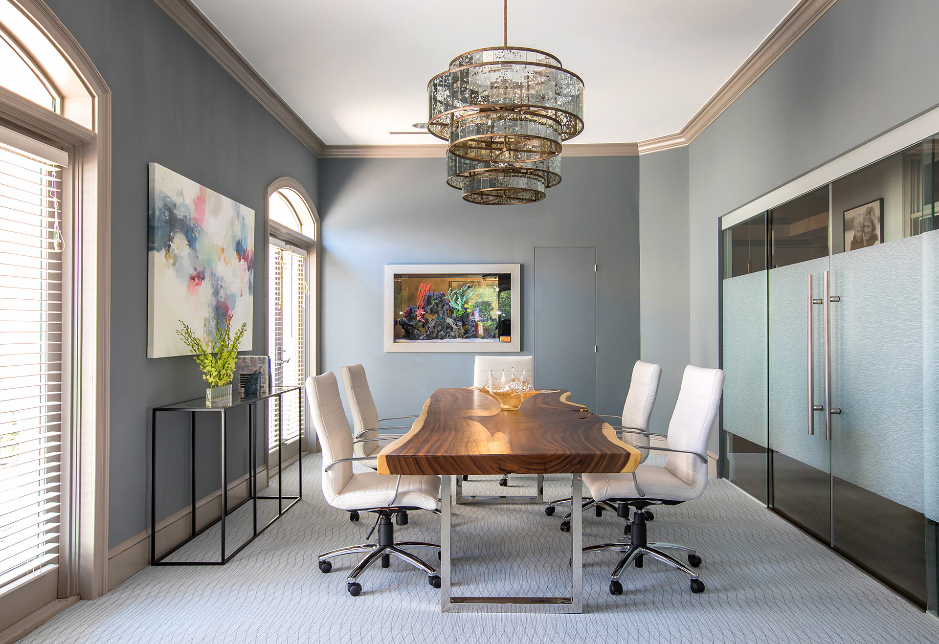 Mid century modern office design studio m interior design - Wendy o brien interior planning design ...
