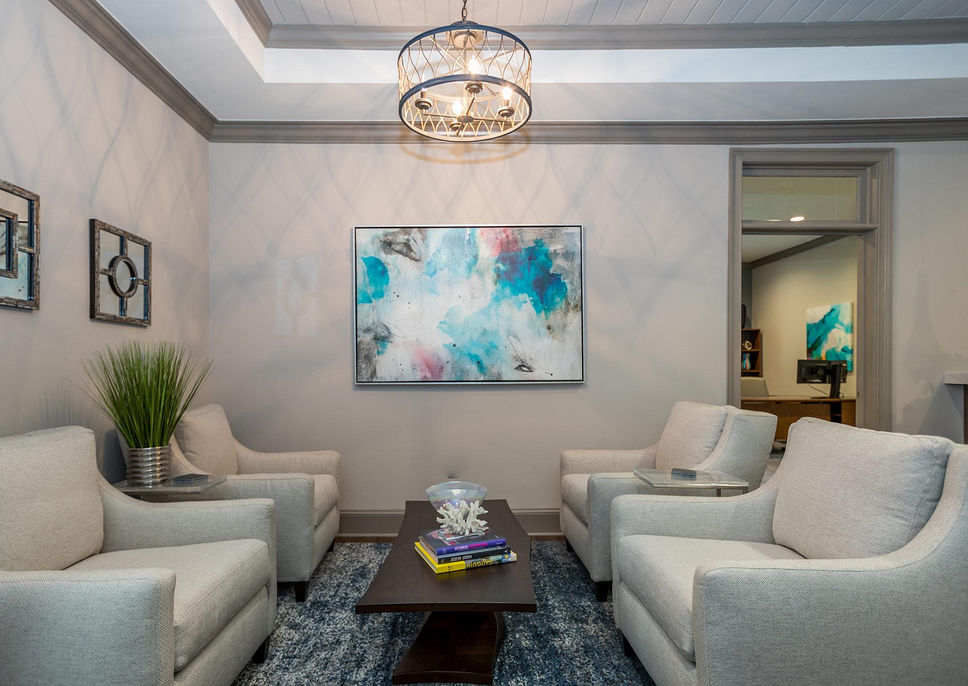 Mid century modern office design studio m interior design - Interior designers jacksonville fl ...